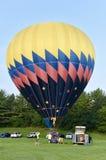 Gonflage du ballon à air chaud Image libre de droits