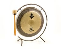 Gong που απομονώνεται Chineese στοκ εικόνες