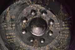 gong ad un tempio buddista Immagine Stock Libera da Diritti