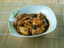 Gong Bao Chicken Stock Photo