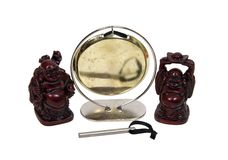 Gong and Buddha Stock Images