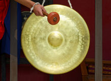 Gong in a Buddhist monastery Royalty Free Stock Photo