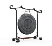 Gong del metallo isolato Fotografia Stock