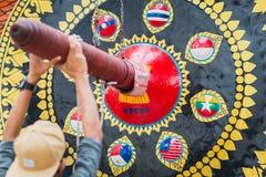 Gong di ASEAN a Bangkok Immagini Stock Libere da Diritti