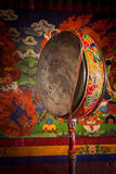 Gong drum in Spituk monastery. Ladadkh, India Stock Images