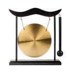Gong en bronze décoratif image stock