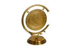 Gong en laiton Photo libre de droits
