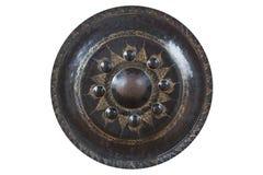 Gong en métal d'isolement Photo libre de droits