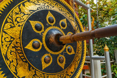 Gong at Golden Mountain or Phu Khao Thong at Wat Saket in Bangkok Stock Image
