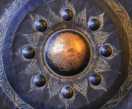 Gong, kółkowego metalu talerzowaty instrument muzyczny Obraz Stock