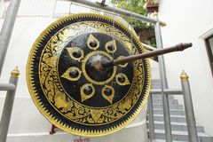 Gong with painting Stock Photo
