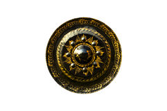Gong with painting. In thai temple royalty free stock photo
