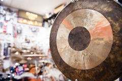Gong percussion instrument close up Stock Photo
