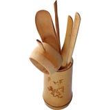 gong s för bambuchafuen tools arbetaren Arkivbilder