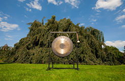 Gong sound healing. Gong used for sound healing; the gong resonates all the cells of the body simultaneously and is usefull in resolving emotional and physical Royalty Free Stock Image