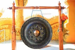 Gong at Thai temple Stock Photo