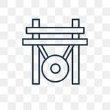 Gong vector icon isolated on transparent background, linear Gong vector illustration