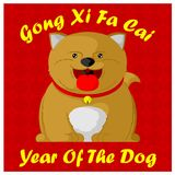 Gong xi fa cai. Cute dogs welcome a lucky new year Stock Images
