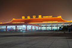 Gongbei entry port night Royalty Free Stock Photography