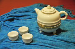 Gongfu teapot. Gong Fu Tea is A Part Of Chinese Traditional Culture. Art Or Lifestyle stock photos