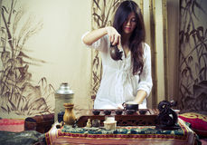 Gongfu Tezeremonie Lizenzfreie Stockfotos