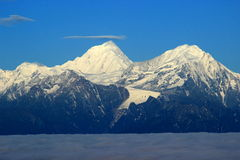Gongga Mountain. Is the highest peak in Sichuan Province, with an altitude of 7556 meters Royalty Free Stock Photography