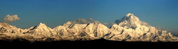 Gongga Mountain panorama royalty free stock photo