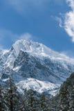 Gongga snow mountain stock image