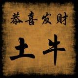 Gongo chino XI Fa Cai del buey de la tierra del Año Nuevo
