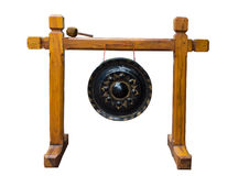 Gongo de Lanna no fundo branco Imagens de Stock