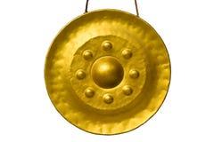 Gongo de oro en templo en Tailandia Fotos de archivo libres de regalías