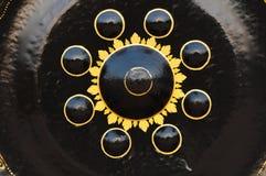 Gongo en templo tailandés Imágenes de archivo libres de regalías