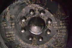 gongo en un templo budista Imagen de archivo libre de regalías
