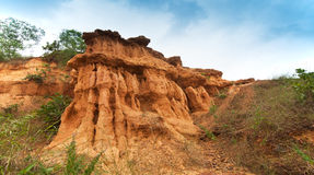 Gongoni, gorge of red soil, India. Gongoni, called grand canyon of west bengal, gorge of red soil, India Royalty Free Stock Photography
