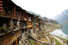Gongtan town royalty free stock photography
