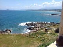 Gonia Monastery Crete. View towards sea Stock Photography