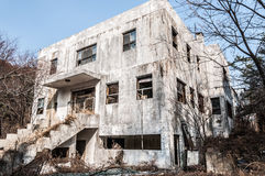 Gonjiam Psychiatric Hospital. The exterior of Gonjiam Psychiatric Hospital in South Korea. The building was abandoned nearly twenty years ago, but never Stock Photography