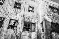 Gonjiam Psychiatric Hospital. The exterior of Gonjiam Psychiatric Hospital in South Korea. The building was abandoned nearly twenty years ago, but never Stock Images