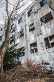 Gonjiam Psychiatric Hospital. The exterior of Gonjiam Psychiatric Hospital in South Korea. The building was abandoned nearly twenty years ago, but never Royalty Free Stock Image