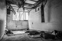 Gonjiam Psychiatric Hospital. The interior of Gonjiam Psychiatric Hospital in South Korea. The building was abandoned nearly twenty years ago, but never Royalty Free Stock Photos