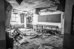 Gonjiam Psychiatric Hospital. The interior of Gonjiam Psychiatric Hospital in South Korea. The building was abandoned nearly twenty years ago, but never Stock Photography
