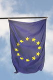 Gonna be better in europe. Flag european union in the blue sky background Stock Images