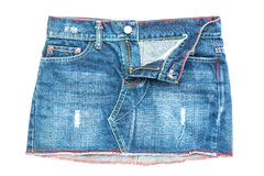 Gonna dei jeans Immagine Stock Libera da Diritti