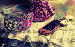 gonna della corona del diadema di scintillio di principessa Immagini Stock Libere da Diritti
