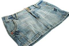 Gonna nera dei jeans Immagini Stock
