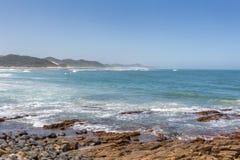 Gonubie海滩在南非 免版税库存照片