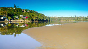 Gonubie river reflections on bright sunny day Royalty Free Stock Image
