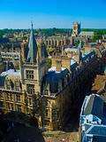 Gonville and Caius College, Cambridge University. From the tower of St. Mary's Church Royalty Free Stock Photography