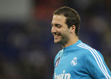 Gonzalo Higuain of Real Madrid Stock Images