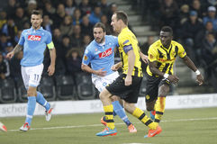 Gonzalo Higuain , Steve von Bergen and Christian Maggio Young Boys Berne v FC Naples Liga Europa Royalty Free Stock Photo